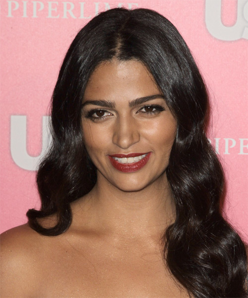 Camila Alves Long Wavy Hairstyle - Black