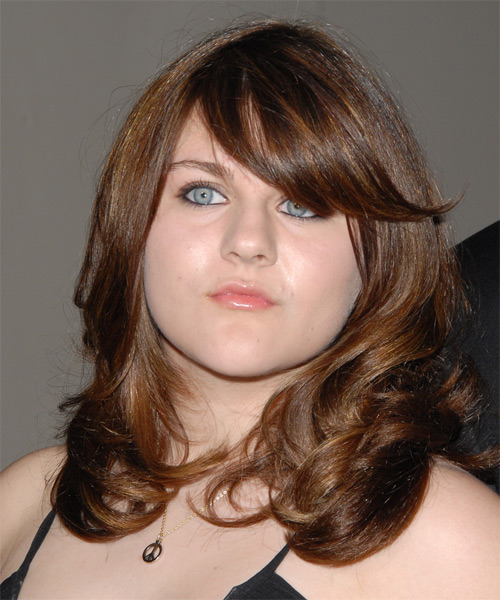 Frances Bean Cobain Long Wavy Hairstyle - Medium Brunette (Chestnut)