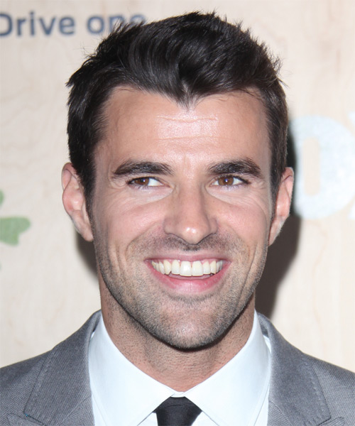 Steve Jones Short Straight Casual Hairstyle - Dark Brunette Hair Color