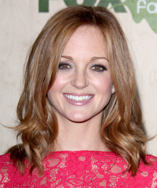 Jayma Mays Medium Wavy Casual Hairstyle - Dark Blonde (Strawberry) Hair Color