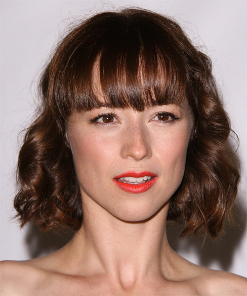 Karine Vanasse  - Formal Medium Wavy Hairstyle