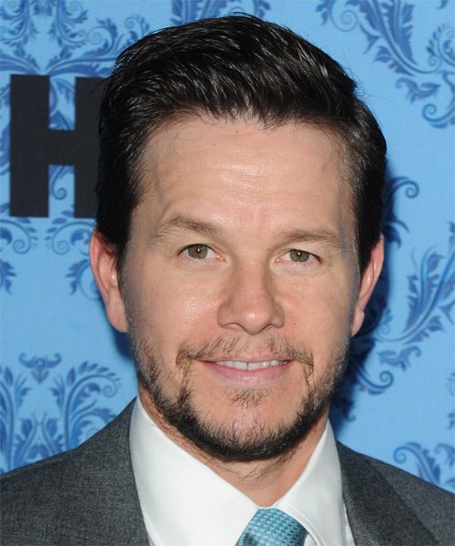 Mark Wahlberg Short Straight Formal Hairstyle - Dark Brunette Hair Color