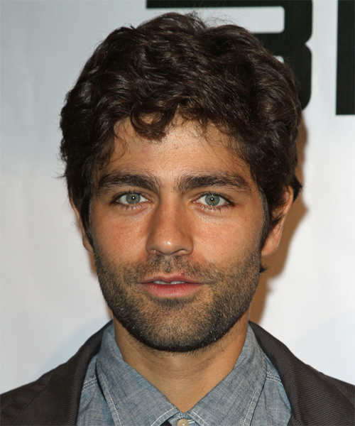 Adrian Grenier Short Wavy Casual Hairstyle - Dark Brunette Hair Color