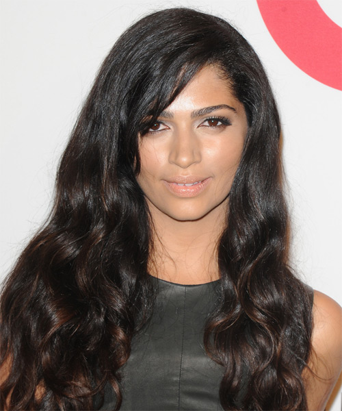 Camila Alves Long Wavy Casual Hairstyle - Dark Brunette Hair Color