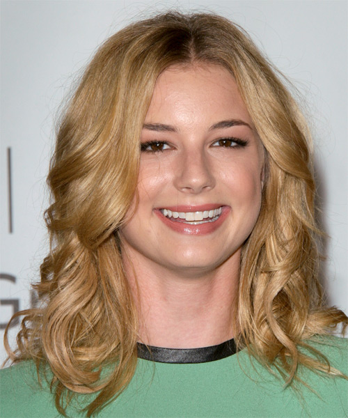 Emily VanCamp Long Wavy Casual Hairstyle - Medium Blonde (Golden) Hair Color