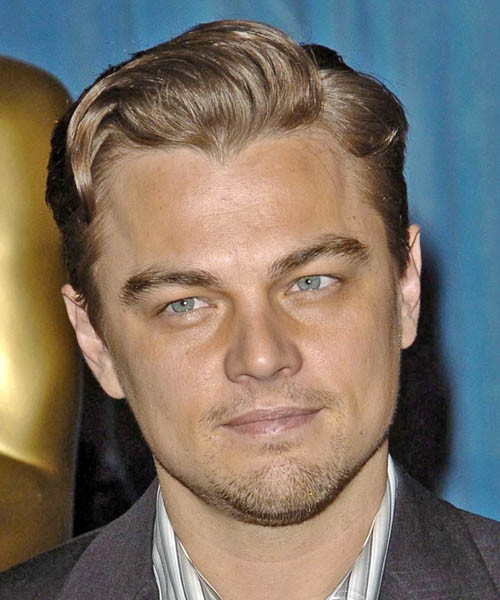 Leonardo DiCaprio Short Straight Hairstyle - Light Brunette (Caramel)