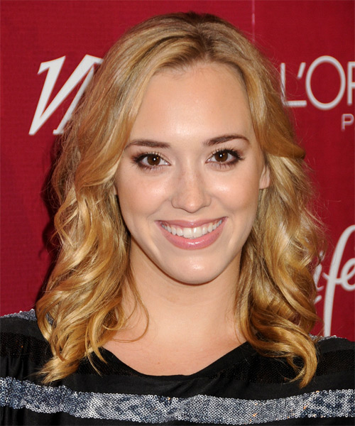 Andrea Bowen Medium Wavy Casual Hairstyle - Medium Blonde (Golden) Hair Color