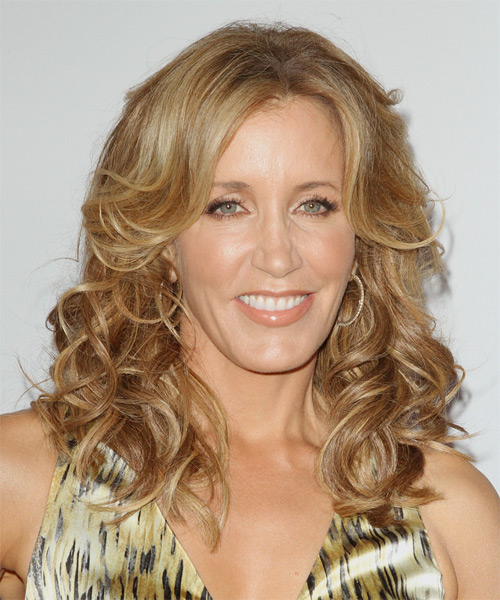 Felicity Huffman Long Wavy Casual Hairstyle - Medium Blonde (Golden) Hair Color