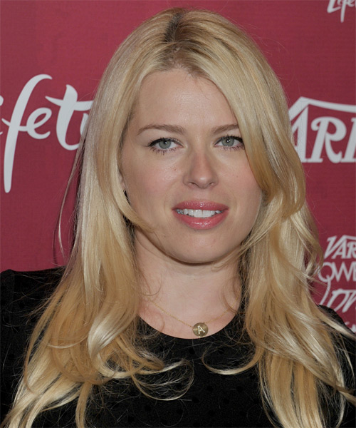 Amanda De Cadenet Long Straight Casual Hairstyle - Light Blonde (Golden) Hair Color