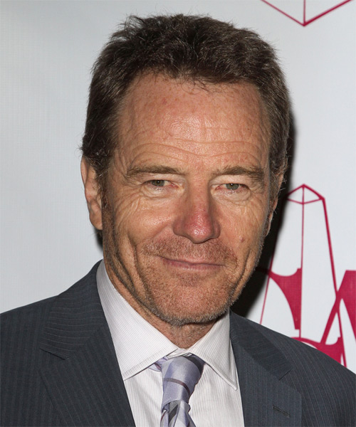 Bryan Cranston Short Straight Hairstyle - Medium Brunette