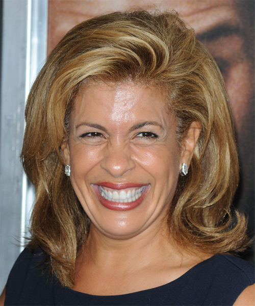 Hoda Kotb Medium Straight Formal Hairstyle - Dark Blonde (Caramel) Hair Color