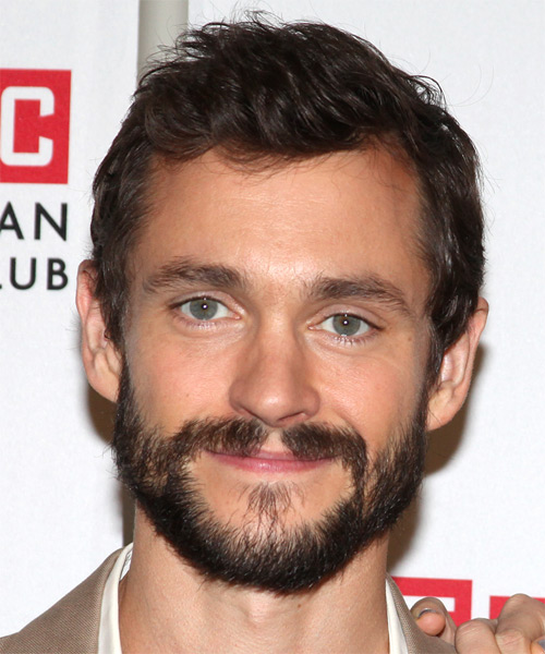 Hugh Dancy Short Straight Hairstyle - Dark Brunette
