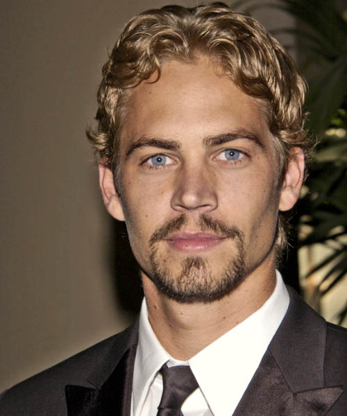 Paul Walker - Casual Short Wavy Hairstyle
