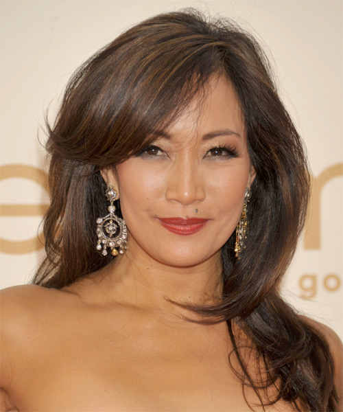Carrie-Ann Inaba Long Straight Hairstyle - Medium Brunette