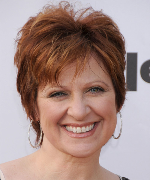 Caroline Manzo Short Straight Casual Hairstyle - Medium Red (Copper) Hair Color