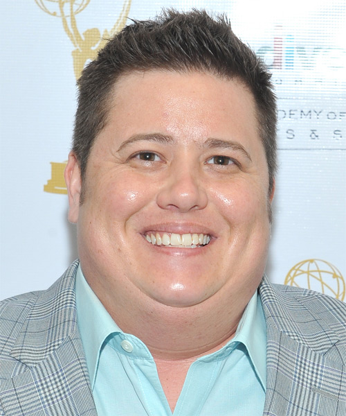 Chaz Bono Short Straight Hairstyle - Medium Brunette (Ash)