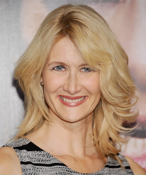 Laura Dern Medium Straight Casual Hairstyle - Light Blonde (Honey) Hair Color