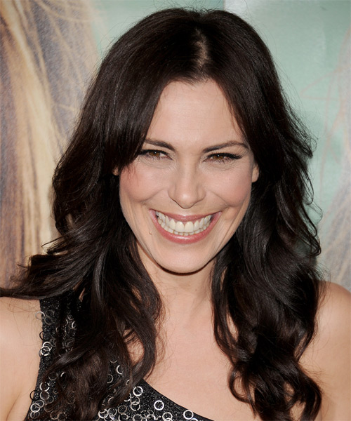 Michelle Forbes Long Wavy Hairstyle - Dark Brunette