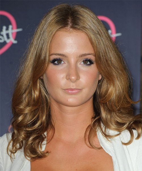 Millie Mackintosh  Medium Wavy Formal Hairstyle - Dark Blonde (Golden) Hair Color