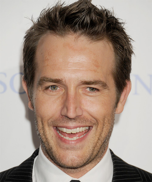 Michael Vartan Short Straight Casual Hairstyle - Medium Brunette Hair Color