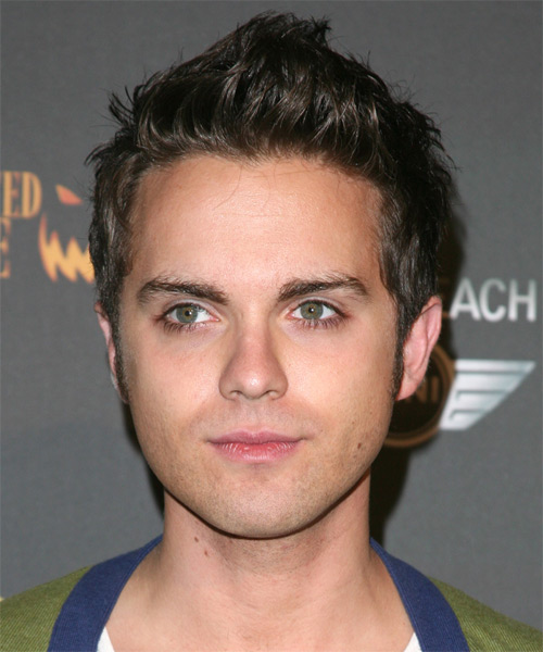 Thomas Dekker Short Straight Hairstyle - Medium Brunette (Ash)