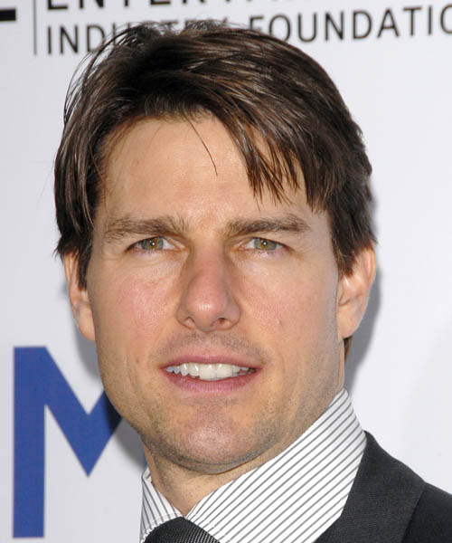 Tom Cruise Short Straight Hairstyle - Medium Brunette (Ash)