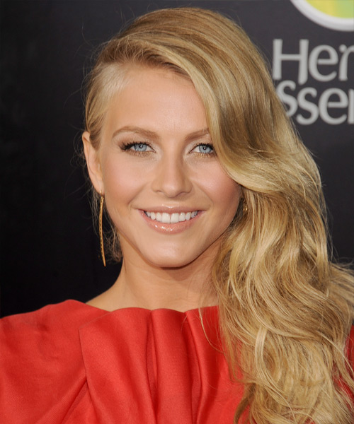 Julianne Hough Long Wavy Formal Hairstyle - Medium Blonde (Golden) Hair Color