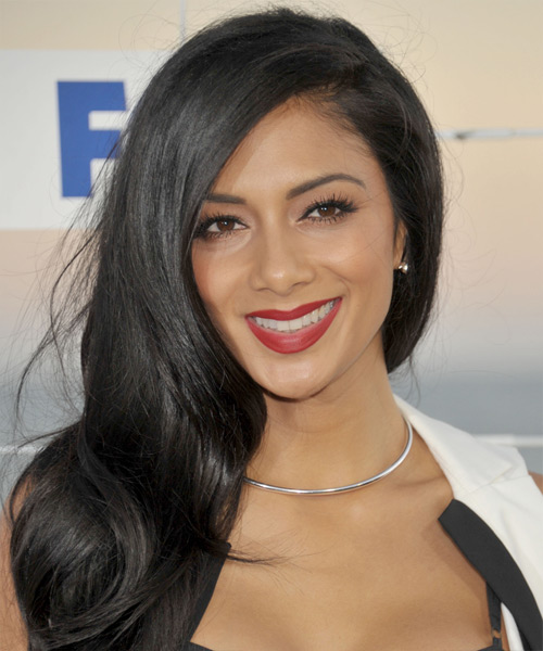 Nicole Scherzinger Long Straight Formal Hairstyle - Black Hair Color