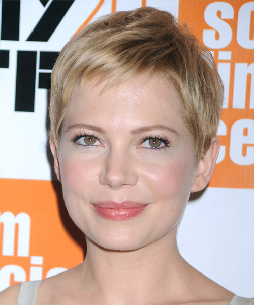 Michelle Williams Short Straight Hairstyle - Medium Blonde (Champagne)