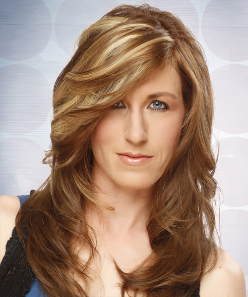 Long Straight Formal Hairstyle - Light Brunette (Caramel) Hair Color