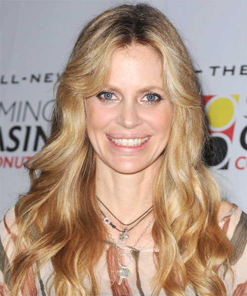 Kristin Bauer Long Wavy Hairstyle - Medium Blonde (Golden)