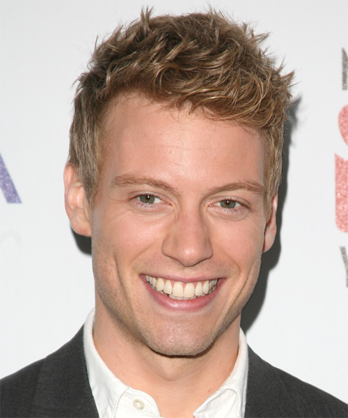 Barrett Foa  Short Straight Hairstyle - Dark Blonde