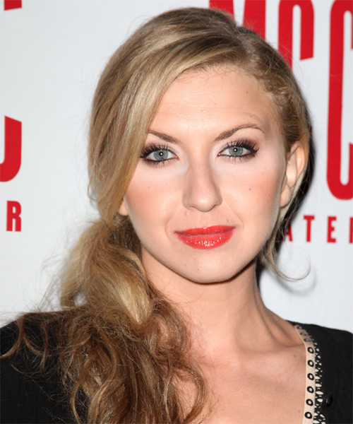 Nina Arianda Casual Curly Half Up Hairstyle - Medium Blonde