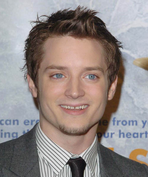 Elijah Wood Short Straight Hairstyle - Light Brunette (Chestnut)