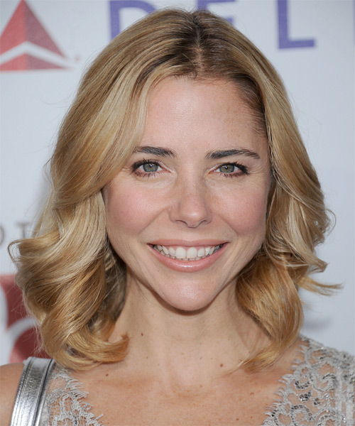 Kerry Butler Medium Wavy Hairstyle - Medium Blonde (Honey)