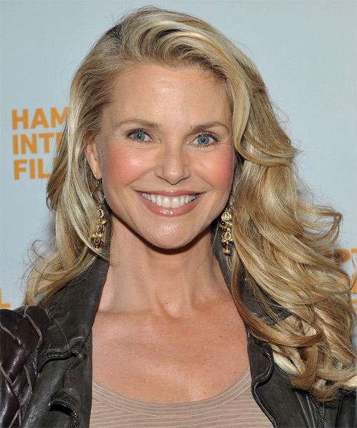 Christie Brinkley Long Wavy Hairstyle - Medium Blonde