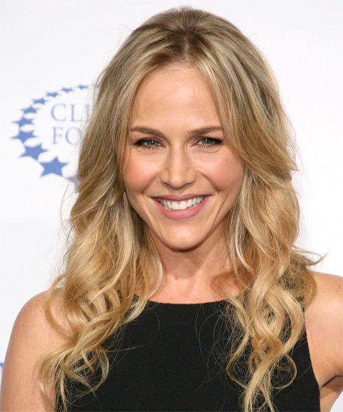 Julie Benz Long Wavy Hairstyle - Medium Blonde (Golden)