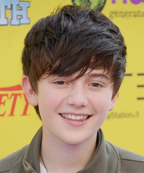 Greyson Chance Short Straight Hairstyle - Dark Brunette