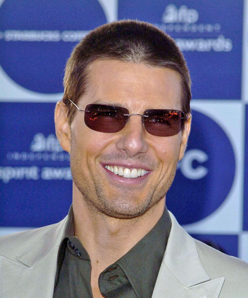 Tom Cruise Short Straight Hairstyle - Light Brunette (Chocolate)