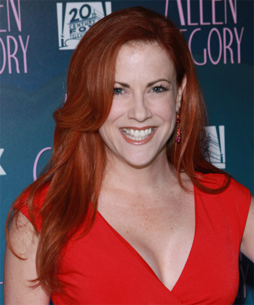 Cristina Pucelli  Long Straight Casual Hairstyle - Medium Red Hair Color