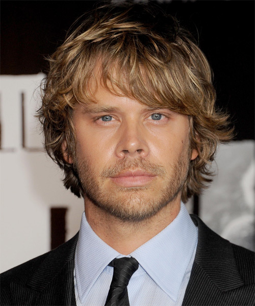 Eric Christian Olsen  Medium Wavy Casual Hairstyle - Dark Blonde (Golden)