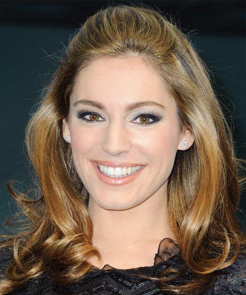 Kelly Brook Medium Wavy Hairstyle - Dark Blonde