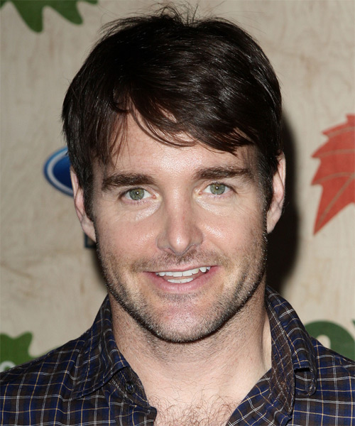 Will Forte Short Straight Casual Hairstyle - Dark Brunette Hair Color