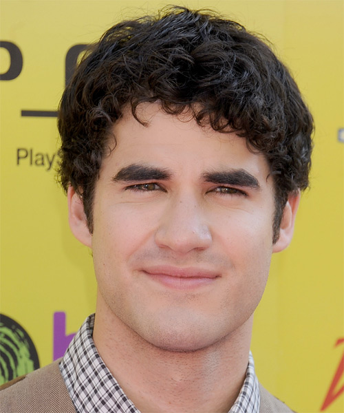 Darren Criss Short Wavy Hairstyle - Black