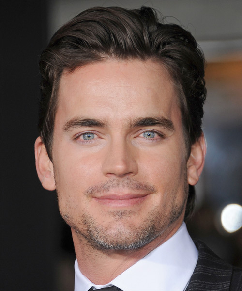 Matt Bomer Short Straight Formal Hairstyle - Dark Brunette (Mocha) Hair Color