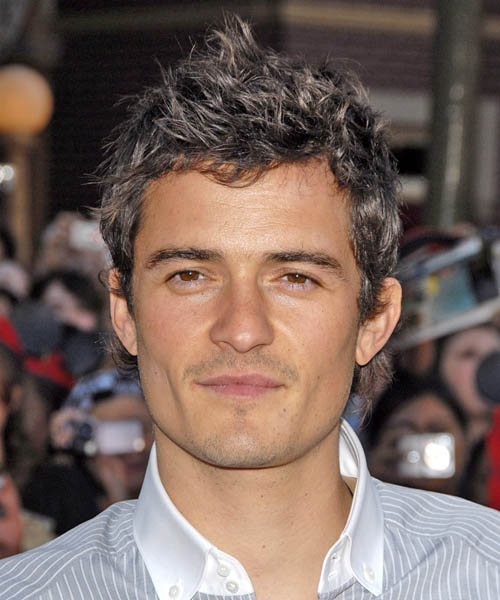 Orlando Bloom - Casual Short Wavy Hairstyle