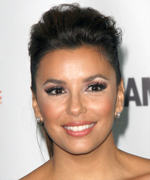 Eva Longoria Parker - Casual Updo Long Straight Hairstyle