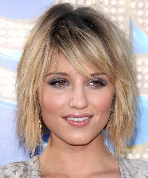Dianna Agron Medium Straight Casual Hairstyle - Medium Blonde (Champagne) Hair Color