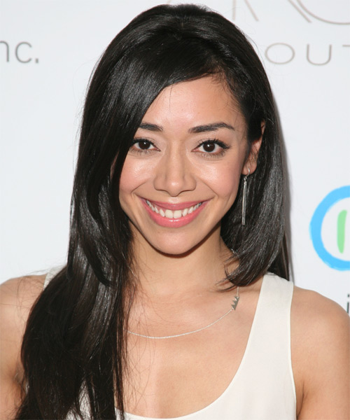 Aimee Garcia Long Straight Hairstyle - Black