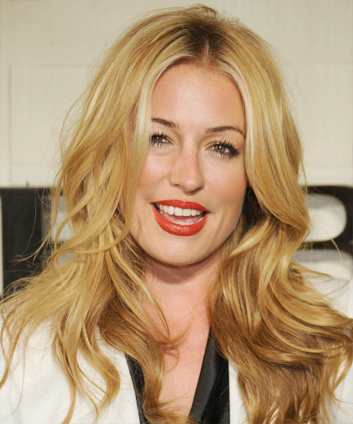 Cat Deeley Long Wavy Casual Hairstyle - Medium Blonde (Golden) Hair Color